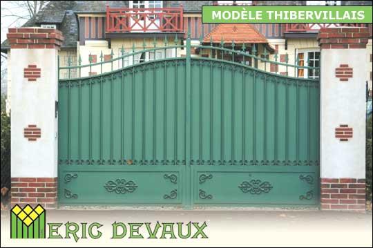 fabricant portail fer sur mesure pose deauville lisieux eric devaux. Black Bedroom Furniture Sets. Home Design Ideas