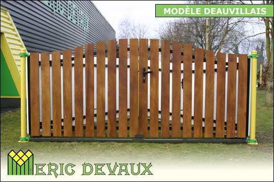 fabricant portail bois sur mesure pose deauville lisieux. Black Bedroom Furniture Sets. Home Design Ideas