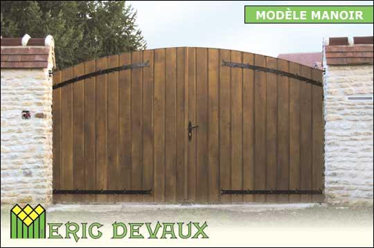 Fabricant Portail Bois Sur Mesure Pose Deauville Lisieux Eric Devaux - Portail exterieur sur mesure