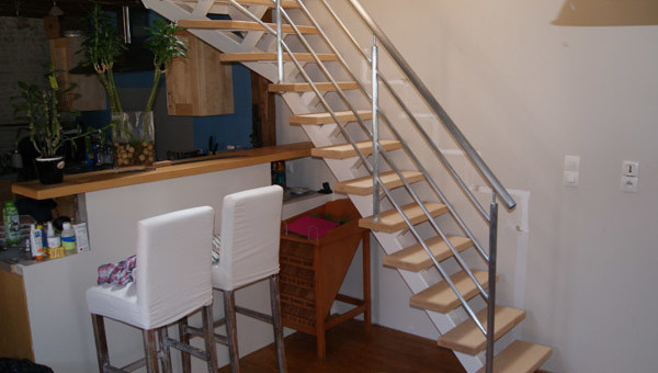 Escalier sur mesure pour maison en Normandie
