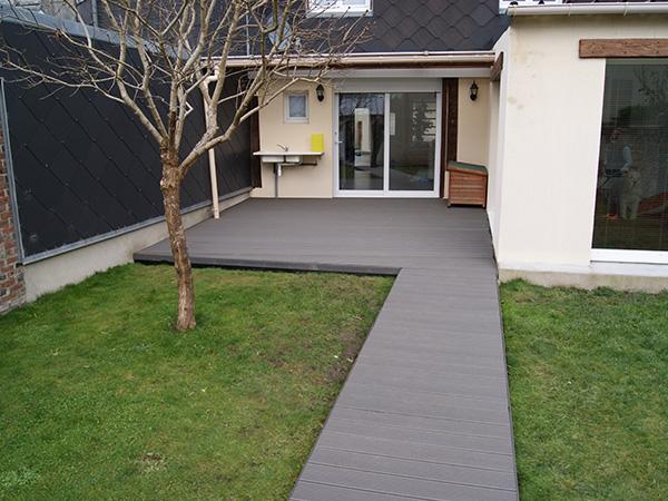 Amenagement terrasse bois twinson pose deauville lisieux for Sol exterieur terrasse