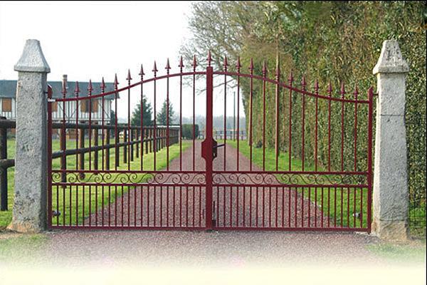 portail fer forgé résidence en normandie