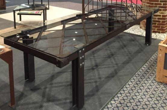 table en acier fabrication sur mesure