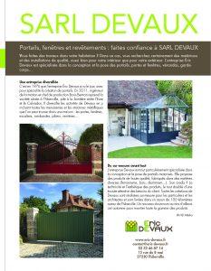 Eric Devaux dans le magazine Maison & Jardin